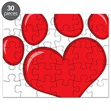 pet paw heart Puzzle