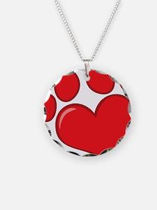 pet paw heart Necklace