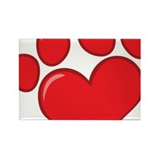 pet paw heart Rectangle Magnet