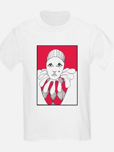 red tear drop harlequin T-Shirt