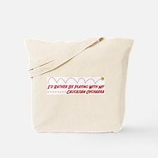 Caucasian Play Tote Bag