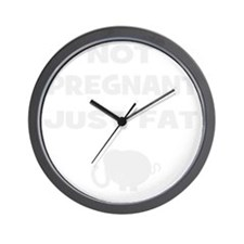 Not pregnant (match funny pregnant) Wall Clock