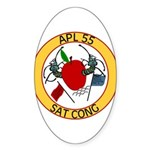APL 55 Sat Cong Oval Sticker