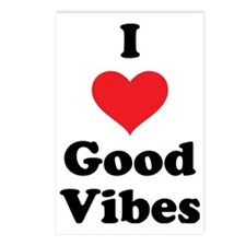 I Love Good Vibes Postcards (Package of 8)