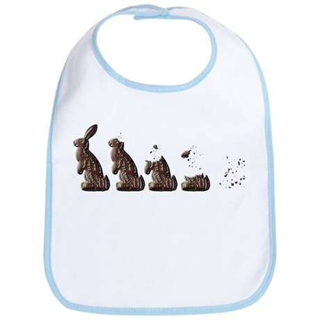 From Chocolate Easter Bunny t Bib