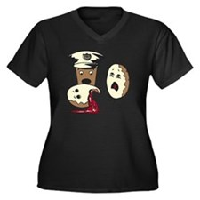 Donut Homici Women's Plus Size Dark V-Neck T-Shirt