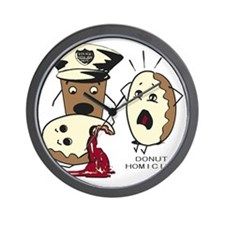 Donut Homicide Wall Clock