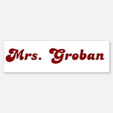 Mrs. Groban Bumper Car Car Sticker