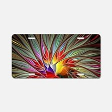 Fractal Bird of Paradise 2  Aluminum License Plate