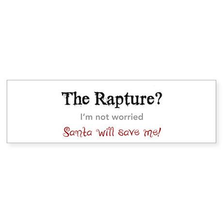 The Rapture vs. Santa Bumper Sticker