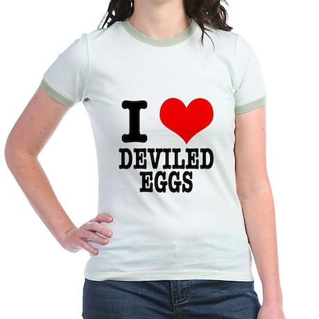 I heart (Love) Deviled Eggs Jr. Ringer T-Shirt