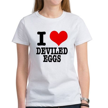 I heart (Love) Deviled Eggs Women's T-Shirt
