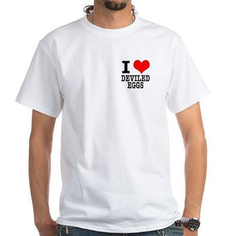 I heart (Love) Deviled Eggs White T-Shirt