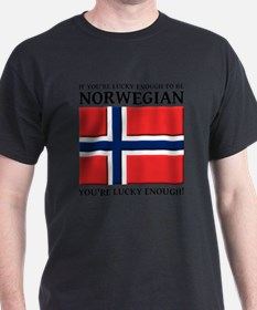 Lucky Enough To Be Norwegian Norsk Sh T-Shirt