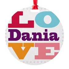 I Love Dania Ornament