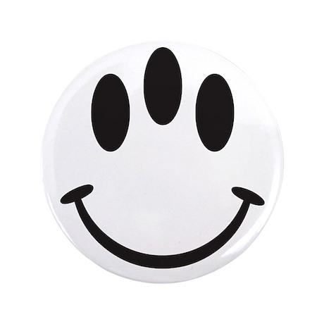"Third Eye Smiley 3.5"" Button"