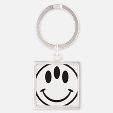 Third Eye Smiley Square Keychain