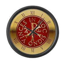 Chi-Rho clock Large Wall Clock