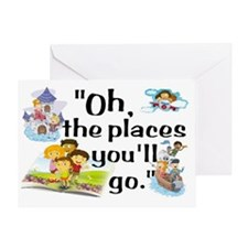 Read- Oh the Places Greeting Card