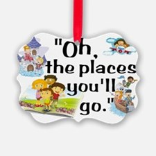 Read- Oh the Places Ornament