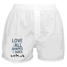 Love Comes In All Shapes & Sizes Resc Boxer Shorts