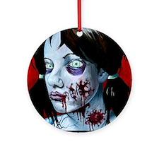 Zombie Portrait Round Ornament