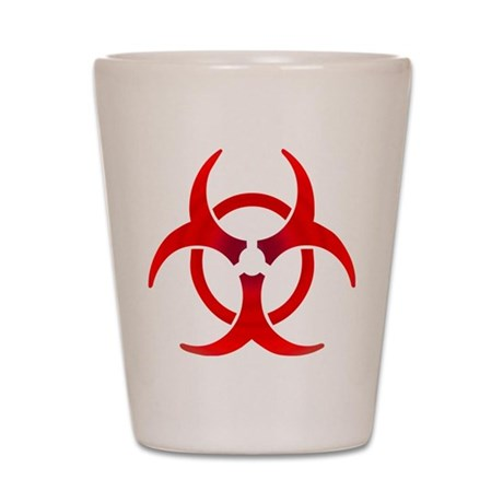 Ruby Bio-hazard Shot Glass