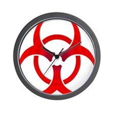 Ruby Bio-hazard Wall Clock