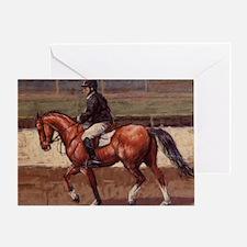 Thoroughbred Jumping Horse Greeting Card