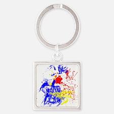 Primary Splatter Keychains