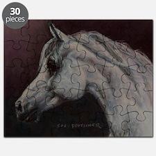 Gray Arabian Stallion Head Profile Puzzle