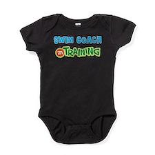 Swim Coach in Training Baby Bodysuit