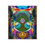 Trippy owl Blankets