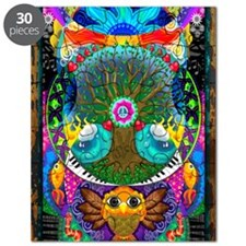 Trippy Tree Owl Puzzle