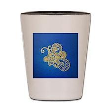 Bombay Blue Shot Glass