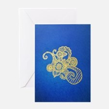 Bombay Blue Greeting Card