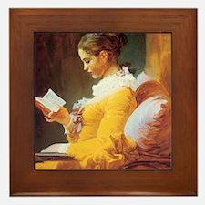 Jean-Honore Fragonard The Reader Framed Tile
