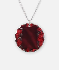 Bed of Roses, Red Ribbon Necklace
