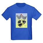 Plymouth Rock Rooster, Hen & Kids Dark T-Shirt