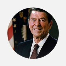 reagan30 Round Ornament