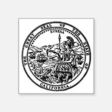 "great seal Ca. Square Sticker 3"" x 3"""
