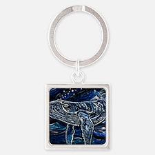 Humpback Whale Square Keychain