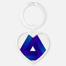 Optical illusion triangle. Heart Keychain