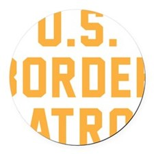 U.S. Border Patrol Round Car Magnet