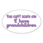 Grandchildren Oval Sticker