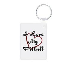 I Love My Pitbull Keychains
