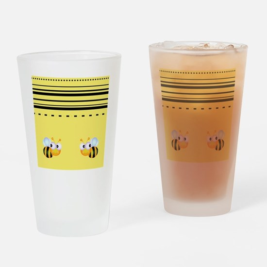 Cute Bumble Bee Graphics Drinking Glass