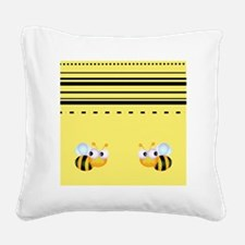 Cute Bumble Bee Graphics Square Canvas Pillow