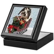 Dudley in Winter Sleigh-Full Keepsake Box
