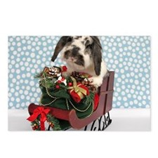 Dudley in Winter Sleigh-F Postcards (Package of 8)